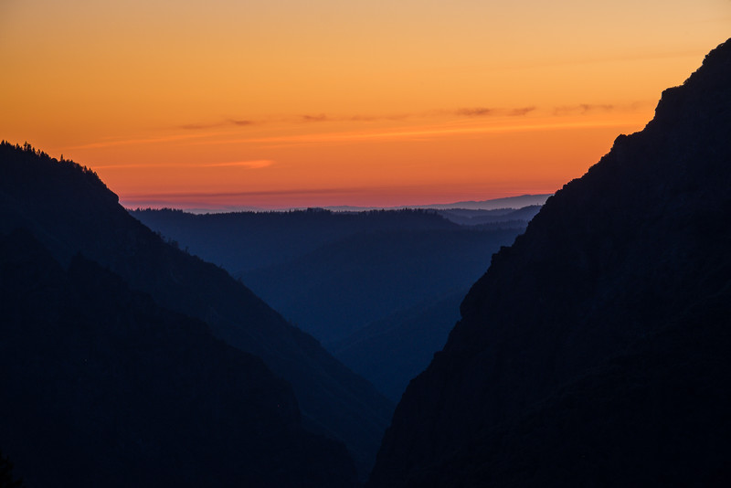 Sunset at Giant Gap, North Fork of the American River Canyon