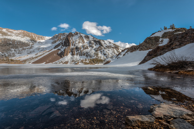 Ice out at Ellery Lake, Tioga Pass