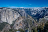 Yosemite Valley, from El Capitan to Half Dome, view from Dewey Point