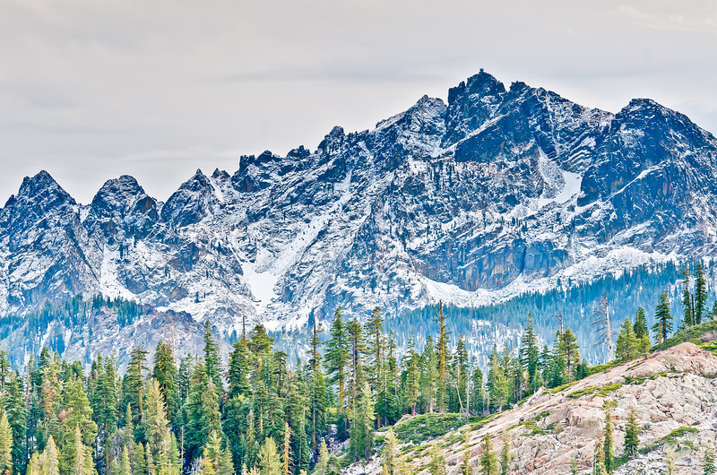 early fall snow on Sierra Buttes