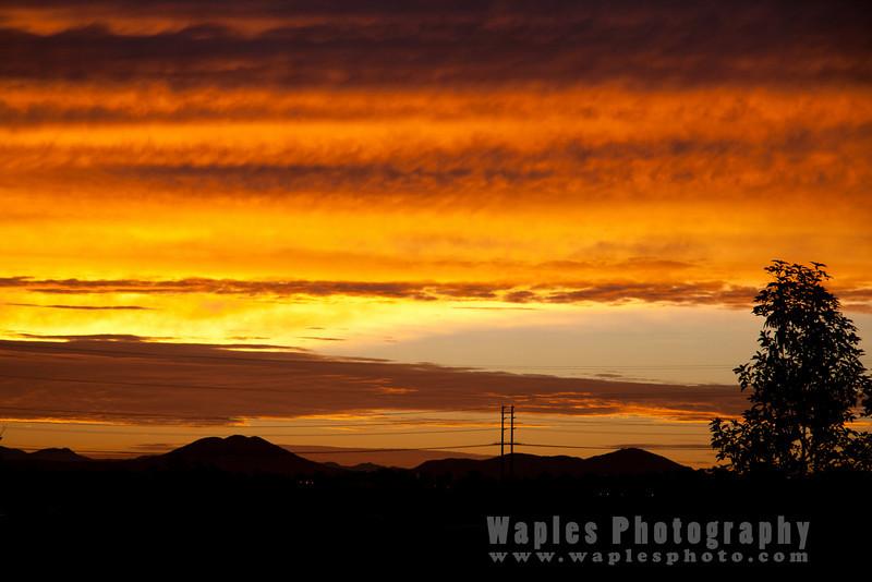 Sunrise Looking toward Mt. San Miguel
