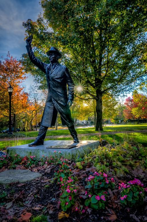 George V Brown Statue - Hopkinton Common