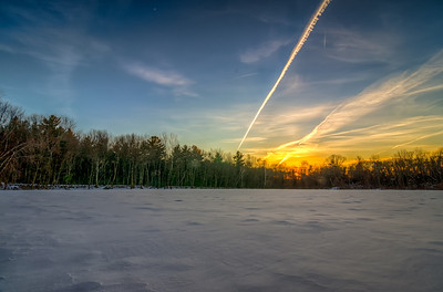 Sunset at the Center Trail in Hopkinton