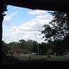 Puffy clouds, from the porch at Schlarman High School.