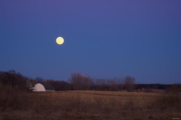 Moon and Star over Lake Elmo, Minnesota