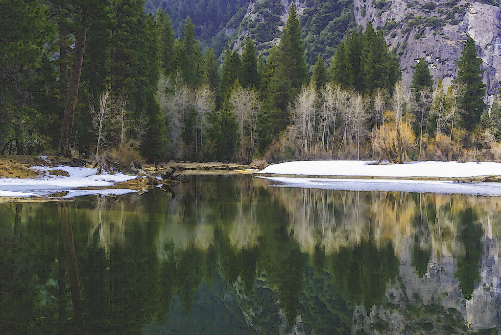 Winter Reflection - Yosemite, CA