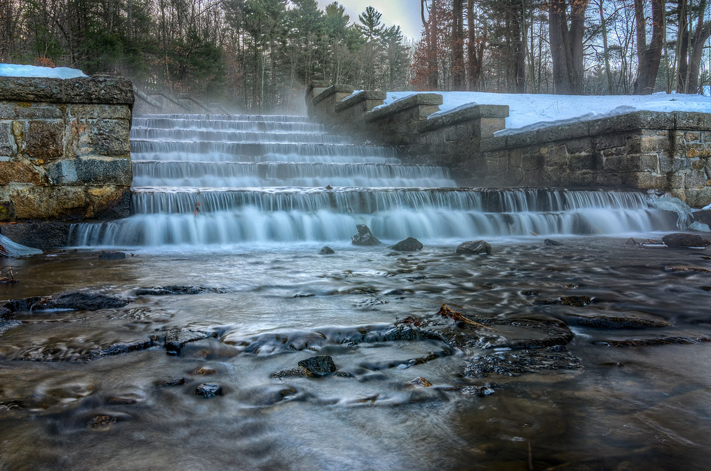 The Spillway and Fog - Ashland State Park