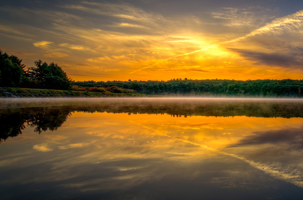 Yellow dawn reflections 3