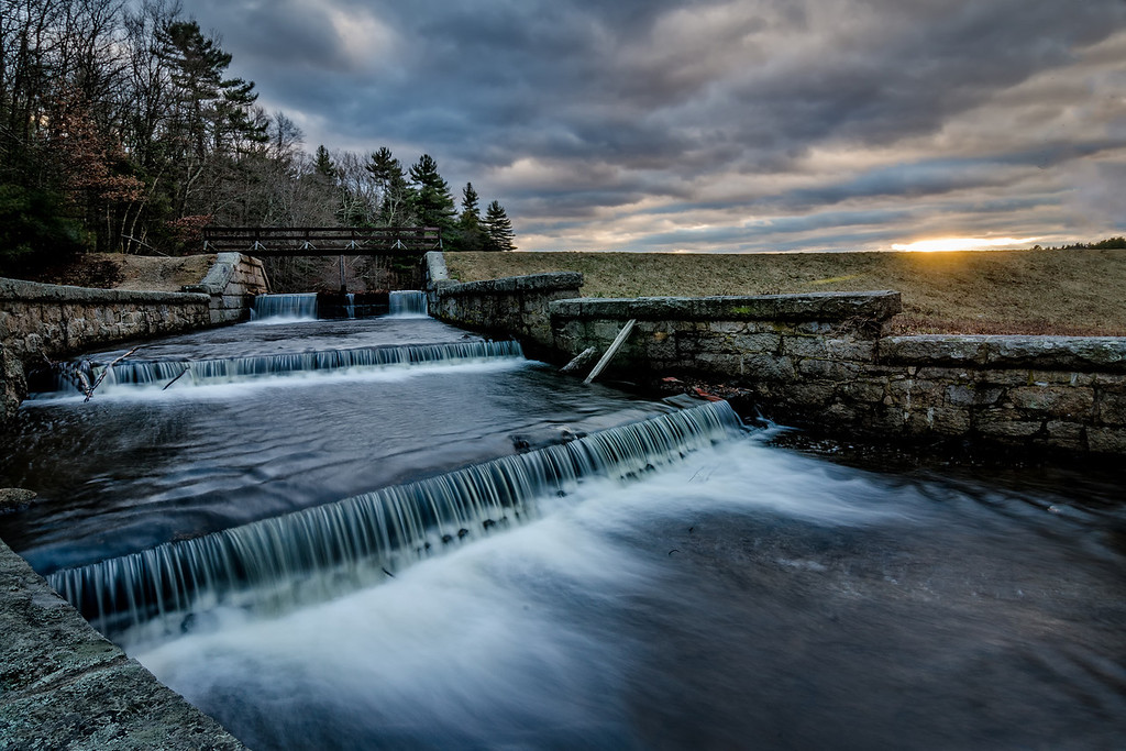 Spillway at Sunset - Ashland State Park