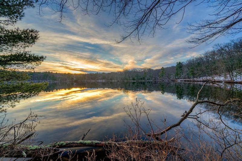 New Years Sunrise - Ashland State Park - Tom Sloan