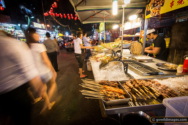 Street food in Jalan Alor - satay