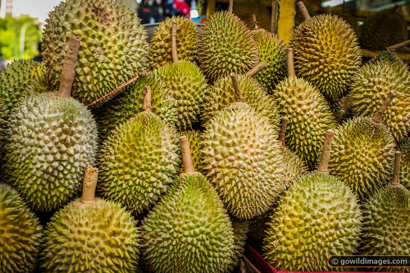 Durian stall - the fruit you either love or hate! There's no middle ground...