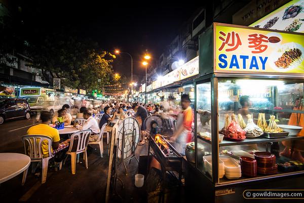 Street food in Jalan Alor - satay