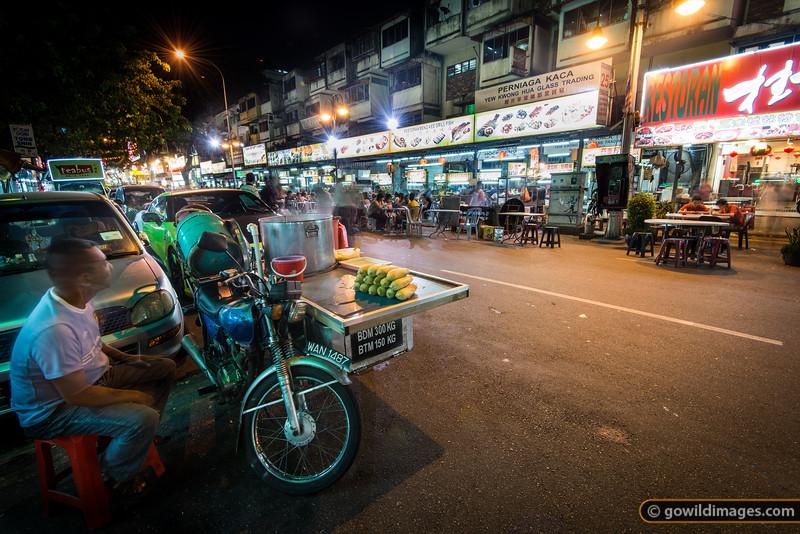 Street food in Jalan Alor - sweet corn