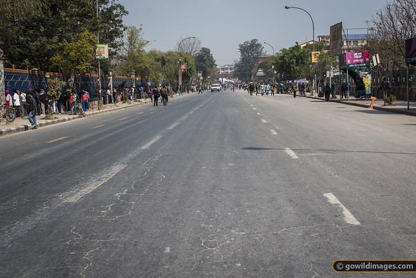 Empty roads - a pleasant side effect of the 'banda' (strike).