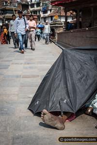Mobile home in Durbar Square