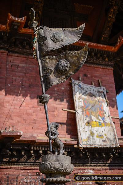 Nepal flag ornament, Taumadhi square
