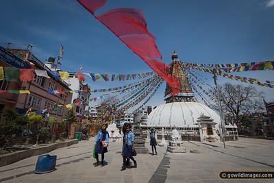 Stupa near Boudha