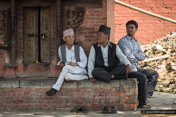 People watching, Nepal's favourite sport!