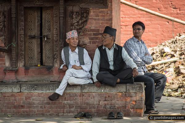 People watching, Nepal's favourite sport!