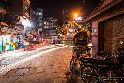 Night scene on the edge of Thamel