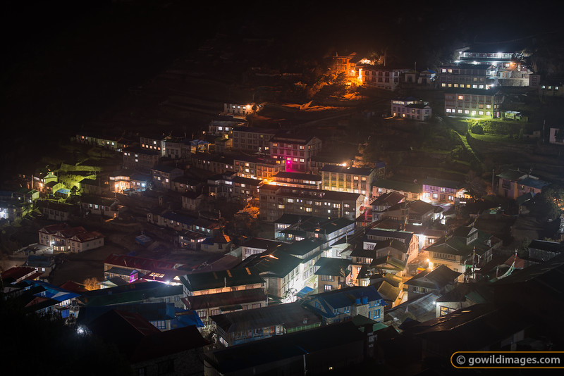 Namche at night