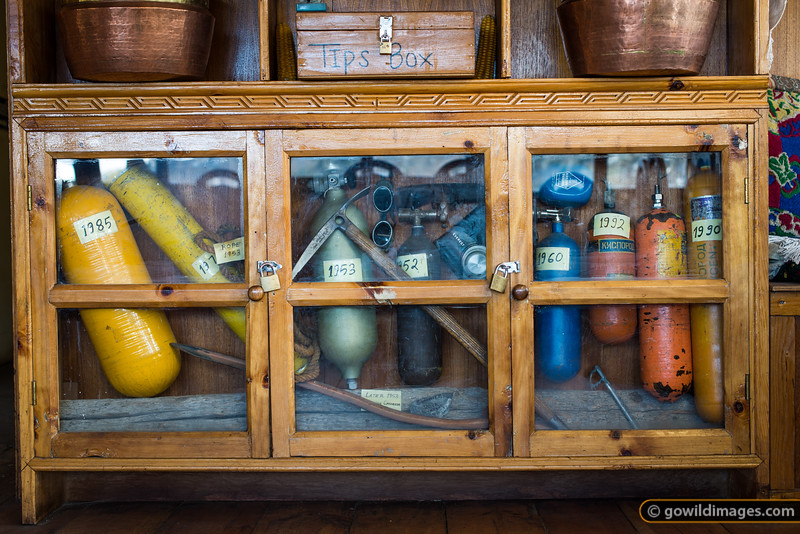Ang Temba Sherpa's souvenir cupboard