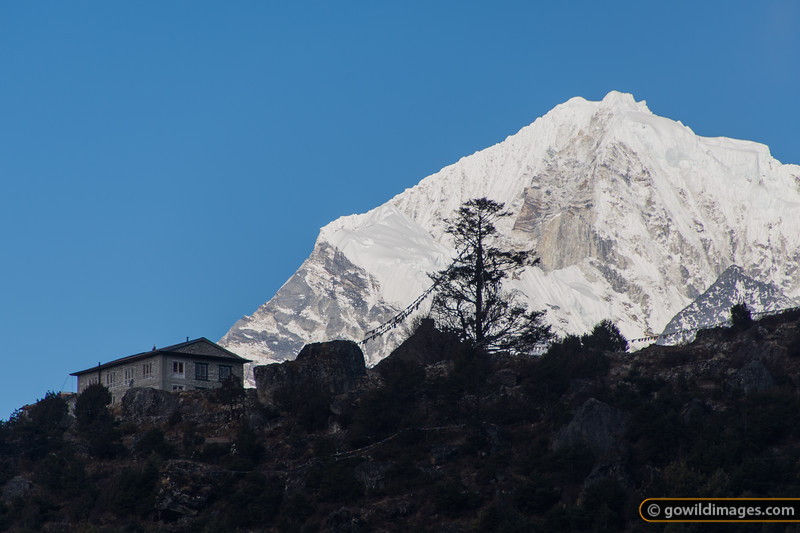 House above Namche, with Numbur 6986m