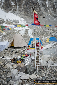 Icefall Doctors' camp