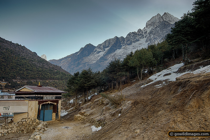 Namche museum on a fresh Spring morning