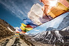 Prayer flags above Dingboche
