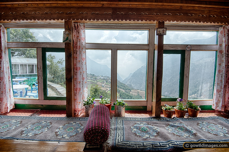 Typical 'tea house'on the Lukla to Namche leg. The stoves are wood-fired at this elevation (~2800m).