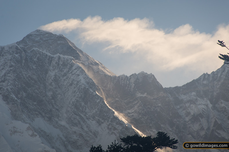 Mt Everest and the Nuptse-Lhotse ridge