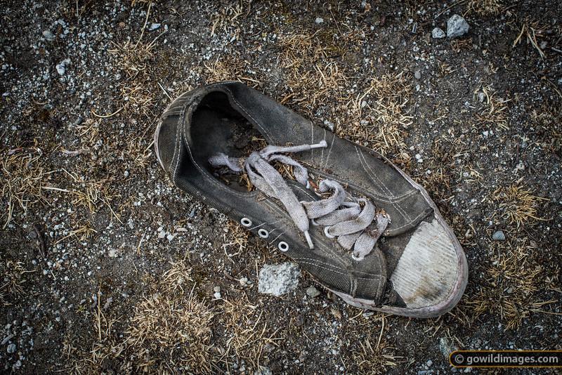 Retired Nepali hike boot