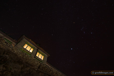 Stars in the mist, Yeti Mountain Home lodge, Namche