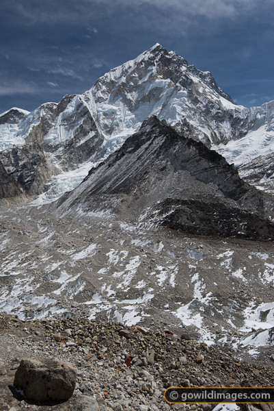 Nuptse and the Khumbu glacier