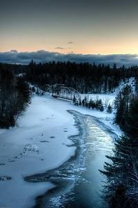 Dawn over the Dead River