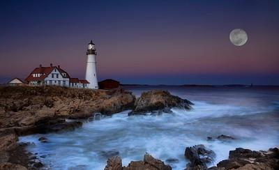 Portland Head Lighthouse, Portland Maine Sunset