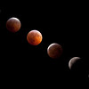 Composite photo of lunar eclipse on12/21/2010