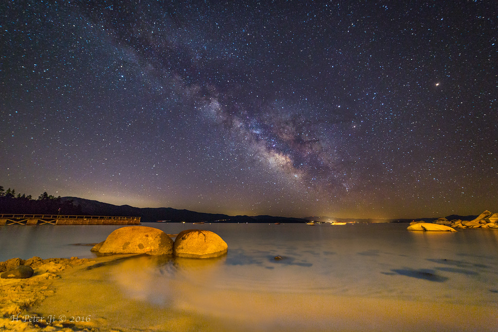 The Milky Way over Lake Tahoe