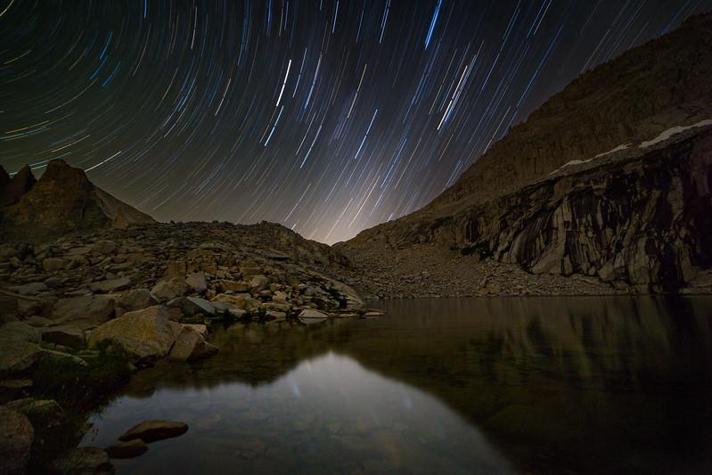 Stars trailing into night