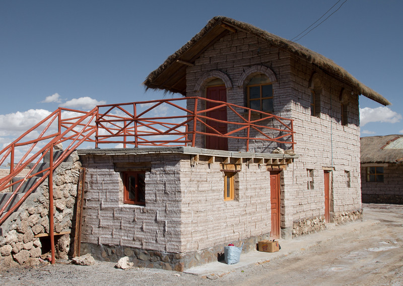 House made from salt blocks, Salar de Uyuni, Bolivia