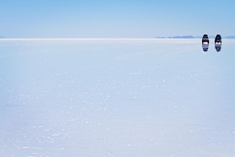 A long drive across Salar de Uyuni, Bolivia
