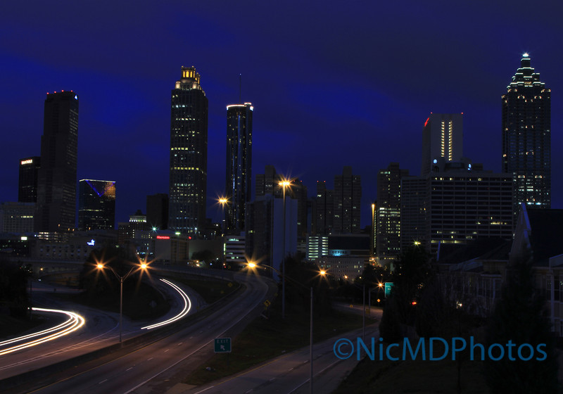 Blue Atlanta Skyline