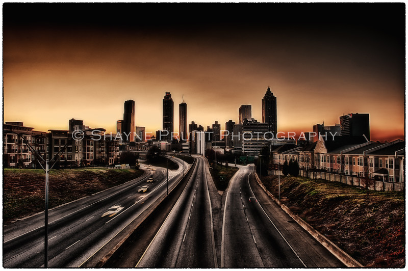 HDR image of Atlanta skyline