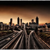 HDR image of Atlanta skyline