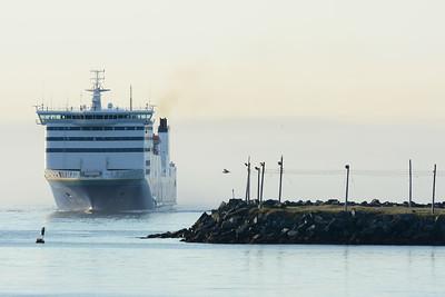 Ferry entering Port aux Basques