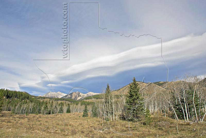 Extensive Lenticular Cloud Formation,<br /> Kananaskis Country, Alberta, Canada