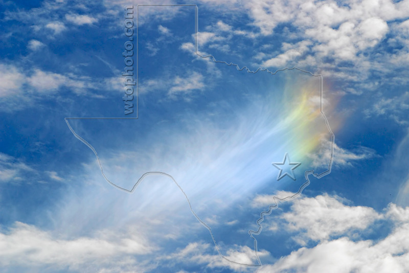 Sundog at Tip of Cirrus,<br /> Sugar Land, Texas
