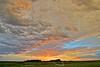 Sunset with Sun Pillar,<br /> Sugar Land, Texas